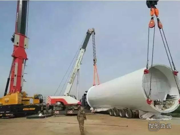 青岛涌泰旅创莱西项目 沃尔青岛莱西96MW风电项目首台风机顺利吊装