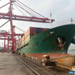 多用途船的特点 出售6400吨410箱位多用途船