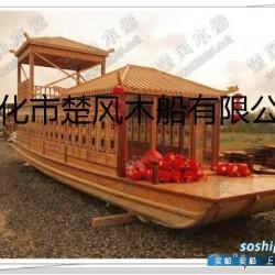 西湖画舫游船 12米双层餐饮画舫景区水库观光画舫游船