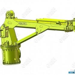 起重机伸缩臂 4吨伸缩甲板海上起重机机械制造企业