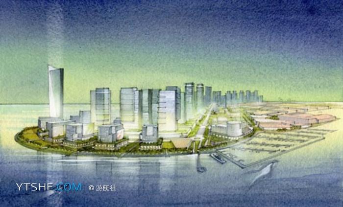 迪拜的波斯湾海景 迪拜2030年海景幻城计划