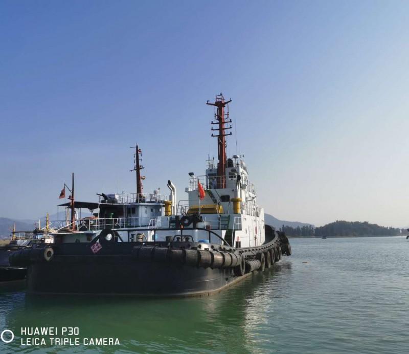 出售1989年造1300马力内河A级全回转拖轮 港做拖轮